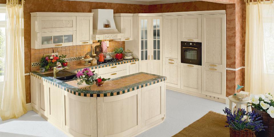 Cucina Signoressa finitura Decapè Bianco